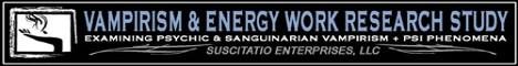 Real Vampirism & Energy Work Research Study